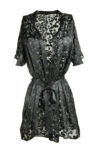 Black Silk Burnout Robe