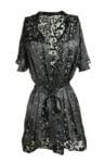 Black Silk Burnout Robe