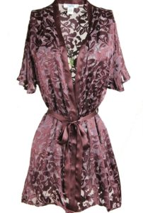Silk Burnout Robe