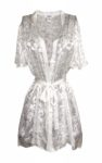 White Silk Burnout Robe