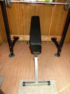 Tiny weight room