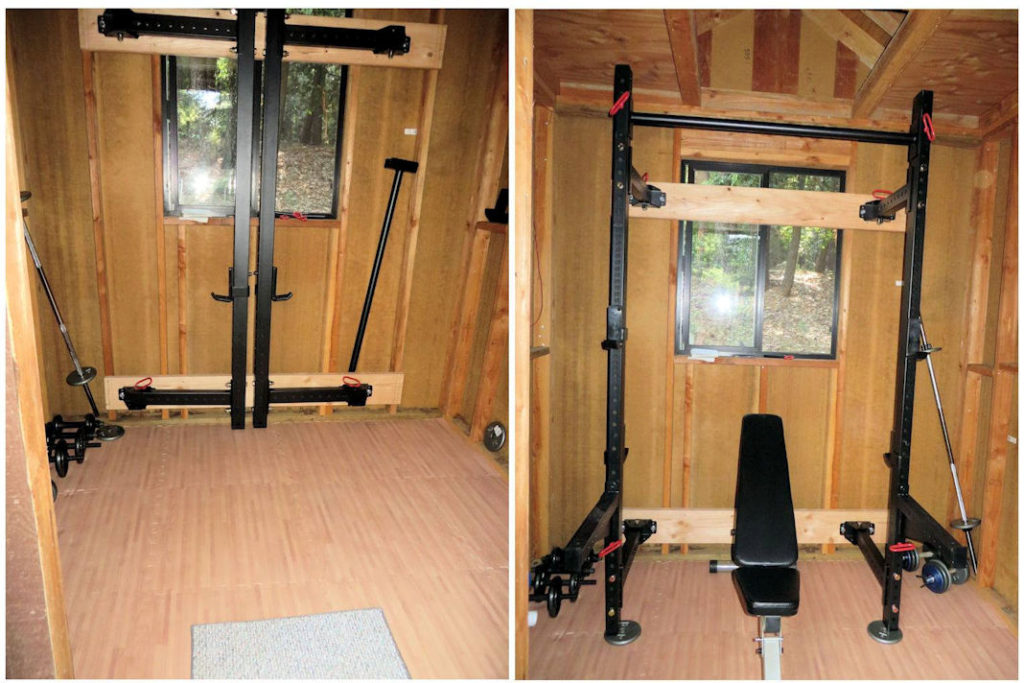 Small home gym and yoga studio plus review of titan t