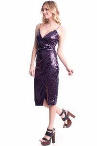 Purple sequin dress